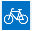 E21,1 - 50x50 cm - Anbefalet rute for cyklister